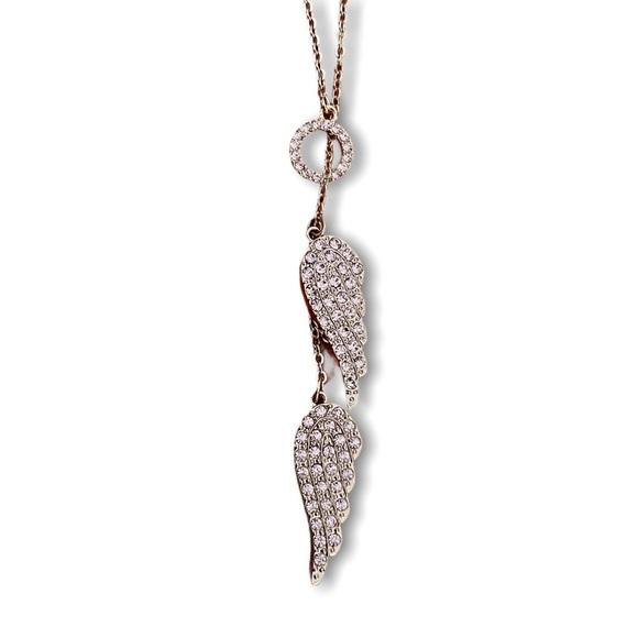 Victoria's Secret Lariat Angel Wings Necklace